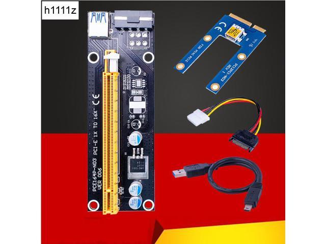 Mini PCIe to 2 PCI Express 16x Slot Riser Card PCI-e 1x 4x 8x 16x Card Supported