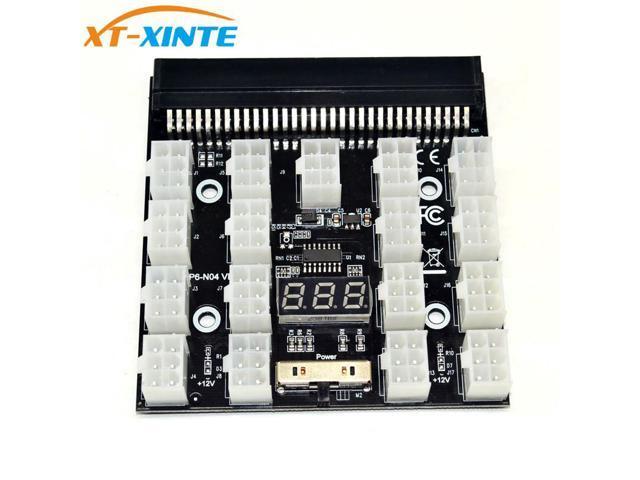 PCI-E 17x 6Pin Power Supply Breakout Board Adapter Converter 12V for  Ethereum BTC Antminer Miner Mining HP Server PSU GPU - Newegg com