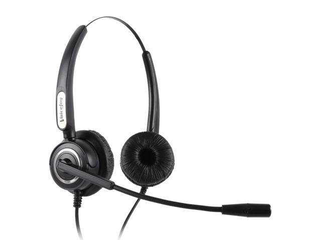 RJ9 plug Noise canceling Telephone headset call center headset business  headphones with Volume+Mute switch for microphone - Newegg com
