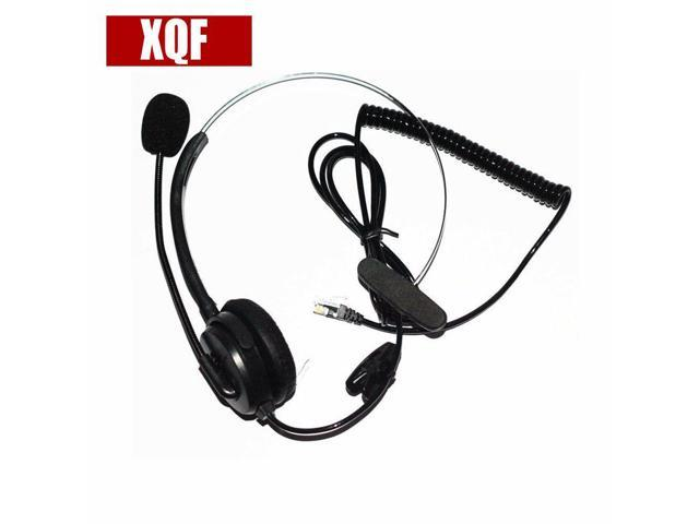 XQF Black 4-pin RJ9 Headset Call Center Desk Telephone Monaural Mic  Mircrophone - Newegg com