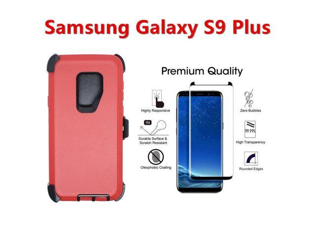 For Samsung Galaxy S9+Plus Defender Case w/Screen & Clip fits Otterbox Red  Black - Newegg com
