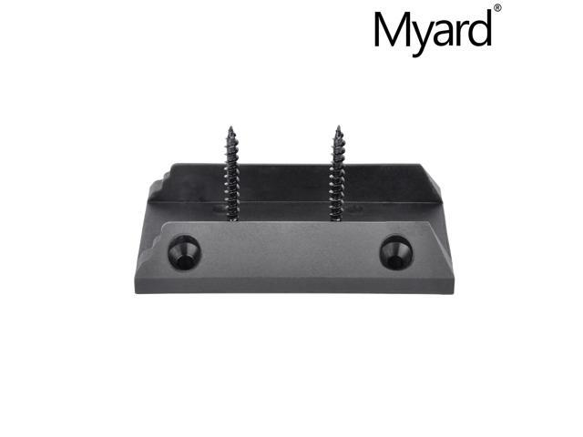 Actual 1.5x3.5 Myard PNP111902 Deck Railing Connectors with Screws for 2x4 Inches Stair Wood Handrail 1 Pair, Black