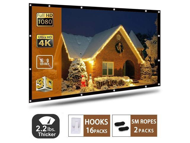 """120/""""Anti-Crease Portable Projector Screen 16:9 HD Home Theater Outdoor 3D Movie"""
