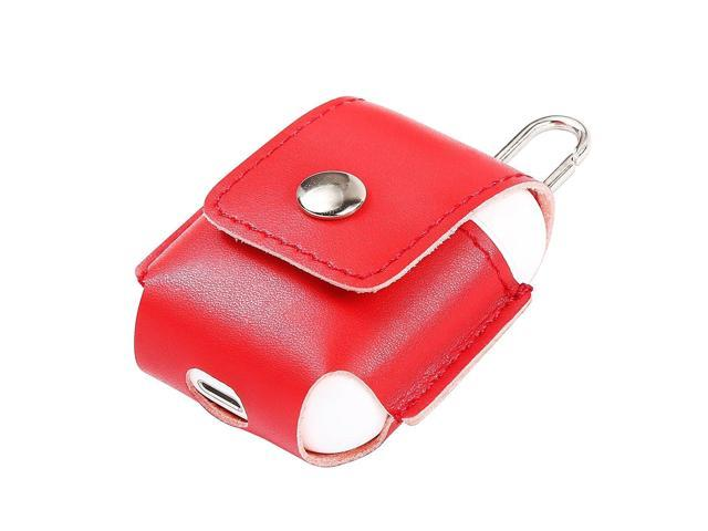 6d5f09b76b5 Ultra Protective Carrying Travel Bag Leather Case Cover for Apple Airpods  Charging Case (Red)