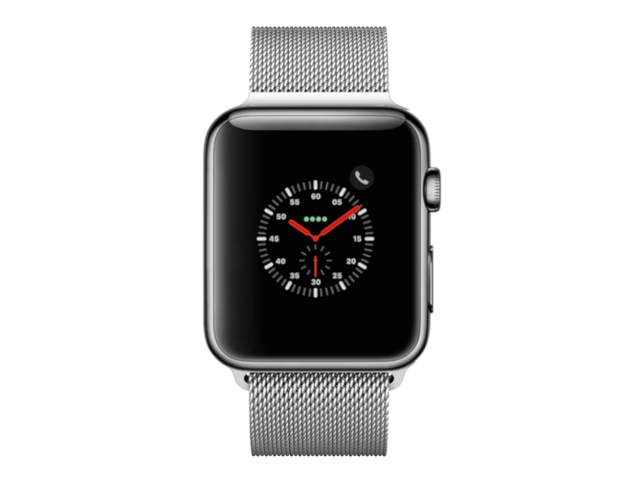 new style c9a7c 634ac Apple Watch Series 3 (Stainless Steel, LTE, 42mm) - Space Black with Silver  Milanese Loop - Newegg.com