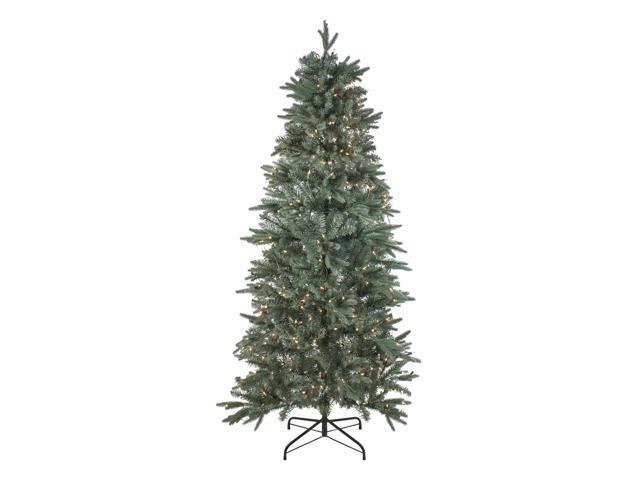 Frasier Fir Christmas Tree.6 5 Pre Lit Slim Washington Frasier Fir Slim Artificial Christmas Tree Clear Lights Newegg Com