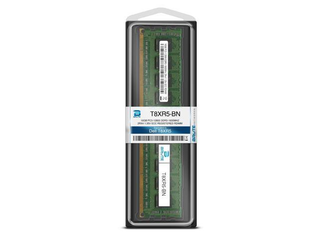 Brute Networks 284FC-BN 16GB PC3-12800 DDR3-1600Mhz 2Rx4 1.35v ECC Registered RDIMM Equivalent to OEM PN # 284FC