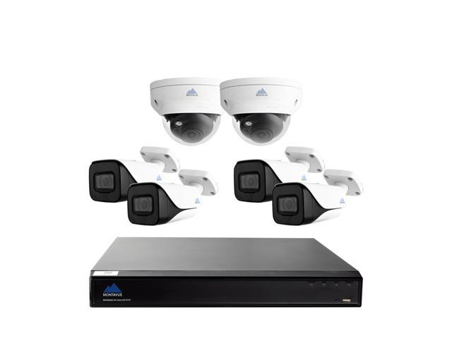 4K IP Residential Camera System w/ 4 4K Bullet Cameras and 2 4K Dome  Cameras - 30fps @ 4K, 2TB HDD, 200ft Color Night Vision, Vandal Resistant -