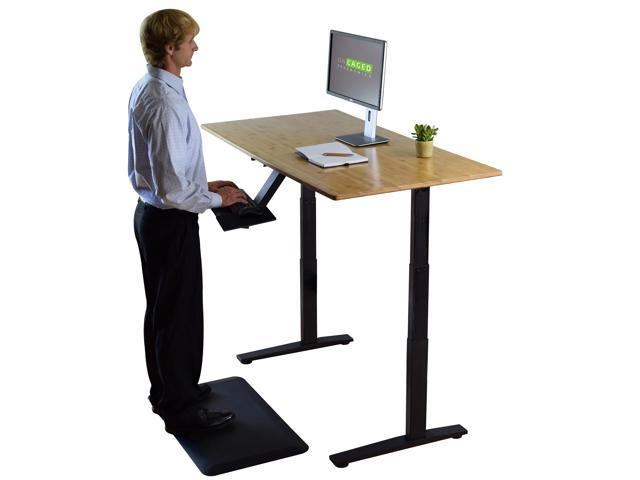 LIFT tall adjustable height single computer monitor stand riser holder standing