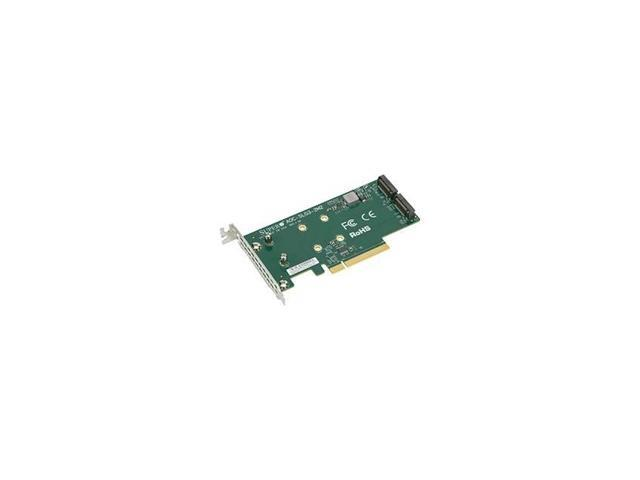 Supermicro AOC-SLG3-2M2 PCIe Add-On Card for up to two NVMe SSDs - Bulk -  Newegg com
