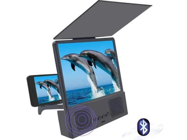 wholesale dealer a84f7 b0fd3 Screen Amplifier Magnifier, Bluetooth Speaker Screen Magnifier 3D HD Mobile  Video Magnifier Support iPhone X / 8/8 Plus / 7/7 Plus / 6 / 6s / 6 Plus /  ...