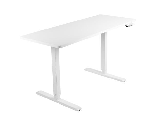 Vivo Electric 60 X 24 Stand Up Desk White Table Top White Frame Height Adjustable Workstation Desk Kit 1w6w Newegg Com