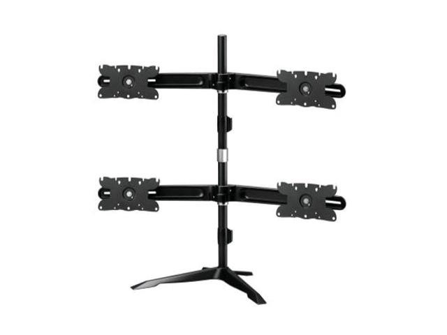 Quad Monitor Mount Stand Base up to 32 inch monitors supported Standard VESA Mount 200x100, 100x100 and 75x75