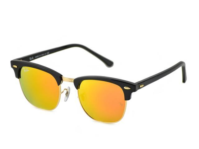3ab245d84e Ray-Ban Clubmaster Sunglasses 51mm Black Frame - Newegg.com