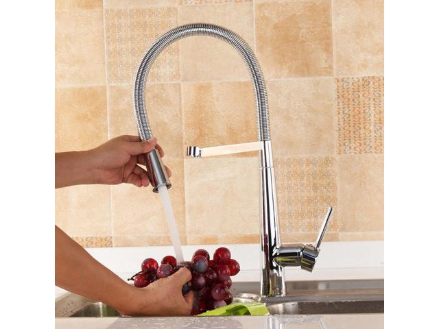 Morden Pull Down Kitchen Faucet 360 Rotate Sprayer Cold Hot Water Mixer Tap Newegg Com