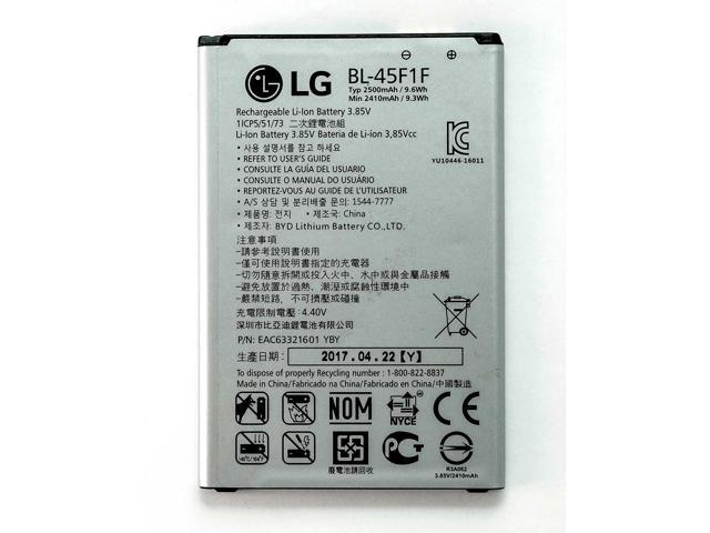 LG Li-ion Phone Battery 3 85V Typ 2500mAh 9 6Wh BL-45F1F EAC63321601 YBY  New OEM - Newegg com