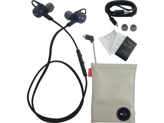 Plantronics Backbeat Go 3 Neckband Wireless Headphones Charge Case Cobalt Black Newegg Com