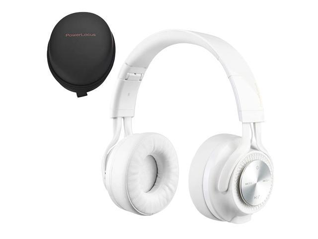 Powerlocus P3 Wireless Bluetooth Headphones Over Ear Foldable Stereo Wireless Wired Headphone Over Ear With Mic Deep Bass Headset For Ios Android Laptop Pc Tv White Newegg Com