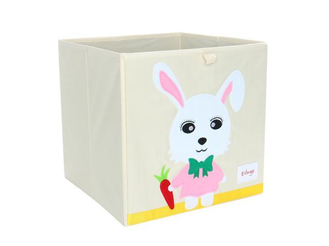 Collapsible Toy Storage Bins Foldable Cartoon Animal Storage Box for  Bedroom Large Capacity Storage Cube Closet Basket Book Toy Clothes Pink  Rabbit No ...