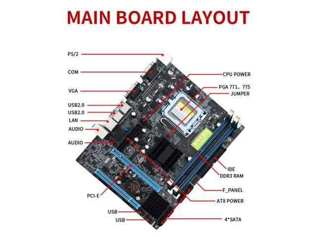 Integrated Sound Card Graphics Card Network Card Support Single//Dual Core Durable LGA 775 DDR2 Desktop Computer Motherboard for Intel 945GV Chip