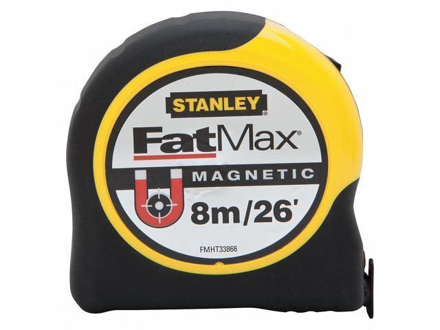 Stanley 26 ft /8m Steel SAE/Metric Magnetic Tip Tape Measure, Yellow  FMHT33866S - Newegg com