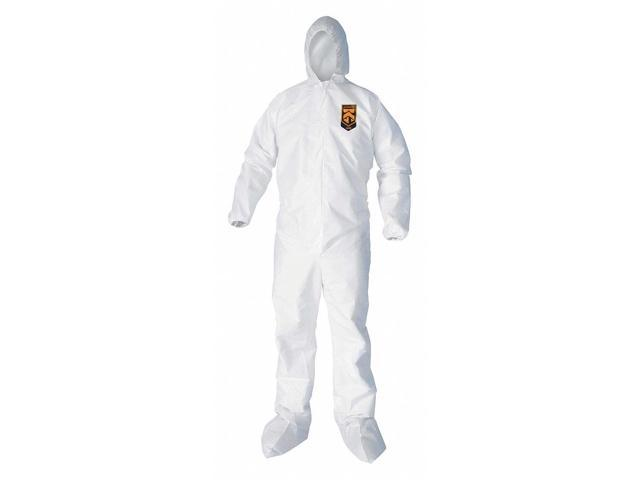Kleenguard Hooded Disposable Coveralls 3XL Microporous Film Laminate White  44336 - Newegg com