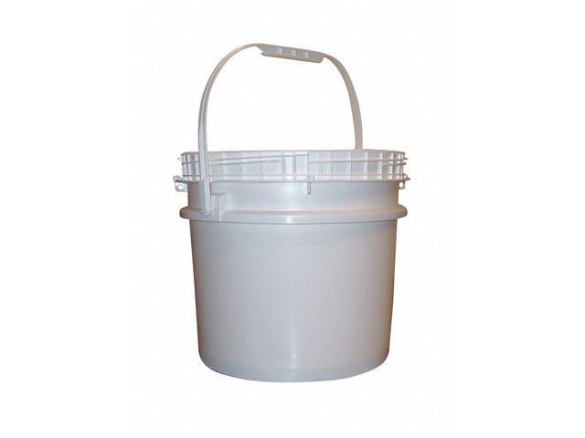 Bway Corporation 3 5 gal  High Density Polyethylene Round Pail, White 51913  - Newegg com