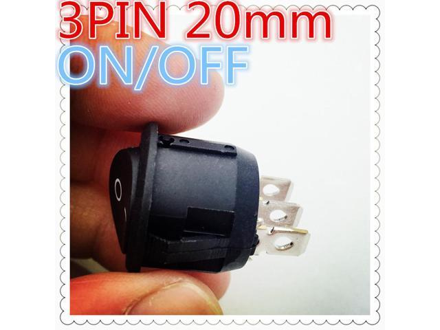 4pcs G116 3PIN 20mm SPST ON/OFF Round Boat Rocker Switch 6A/250V 10A/125V  Car Dash Dashboard Truck RV ATV Sell At A Loss USA - Newegg com