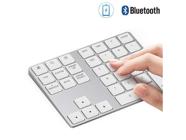 Bluetooth Number Pad, Lekvey Wireless Numeric Keypad - Aluminum  Rechargeable Slim 34-Keys External Numpad Keyboard Data Entry for Laptop,  MacBook,