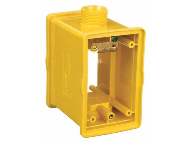 Hubbell Wiring Device-kellems Portable Outlet Box, 1-Gang, 1-Inlet, on