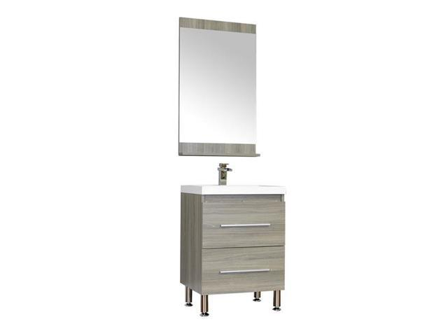 Alya Bath AT 8080 G S 24 In Ripley Collection Single Modern Bathroom Vanity Set Gray