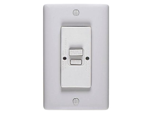 HUBBELL WIRING DEVICE-KELLEMS GFTWRST83GY GFCI Receptacle,20A,125VAC,5-20R,Gray