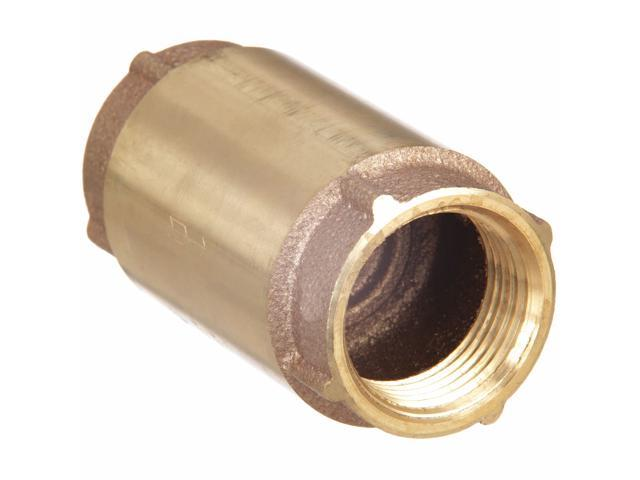 "ZORO SELECT 10F323 3//4/"" NPT Brass Swing Check Valve"
