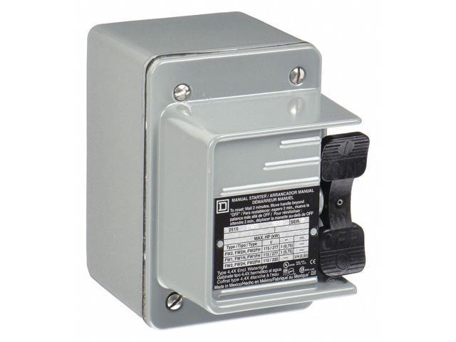 Square D Rocker Manual Motor Starter, Enclosure NEMA Rating 4, 16 Amps AC -  Newegg com