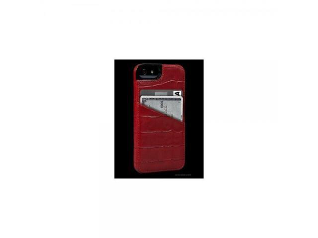 best website c56eb 6d8dd Sena Cases Lugano Wallet for iPhone 5 - Retail Packaging - Croco Red -  Newegg.com