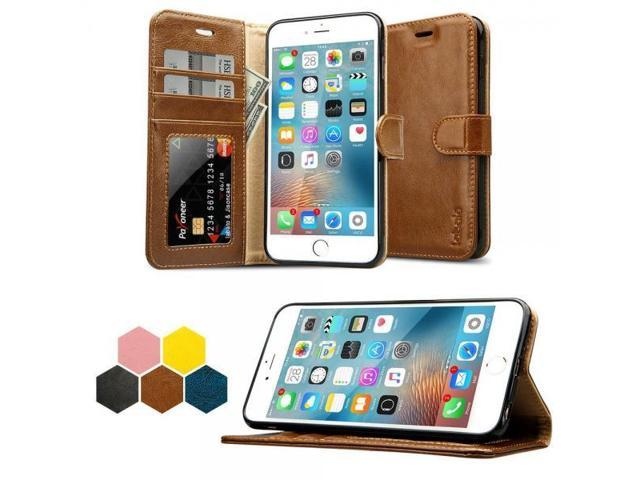 pretty nice 54db1 15a70 iPhone 6S Plus Wallet Case, Labato Genuine Leather Folio Flip Case Cover  Magnetic Stand Function with Card Slots/Cash Compartment for Apple iPhone 6  ...