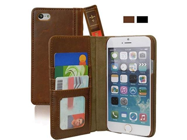 iPhone 6 / 6s PLUS Case, KHOMO [Book Collection] - Vintage Book Style  Wallet Leather Cover for Apple iPhone 6 + PLUS 5 5'' - Brown - Newegg com