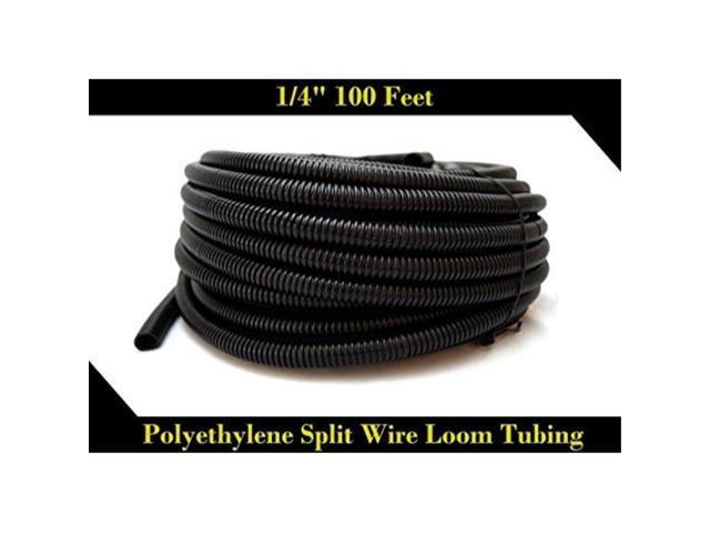 """100 Feet 1//4/"""" Split Loom Tubing Car Audio Wire Wiring Car Audio Install Wiring"""