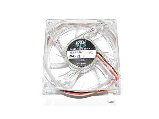 New CoolerMaster A8025-18CB-5BN-L1 PL80S12L-4 12V 0.21A 80mm 3pin LED Silent FAN