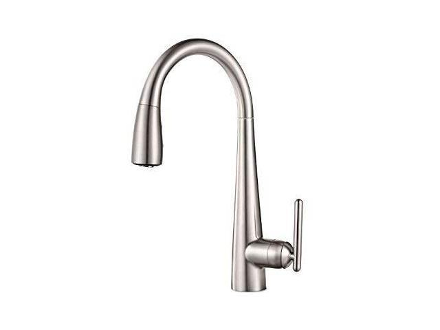 pfister gt529fls lita xtract allinone pull down kitchen faucet with  integrated water filter, stainless steel - Newegg.com