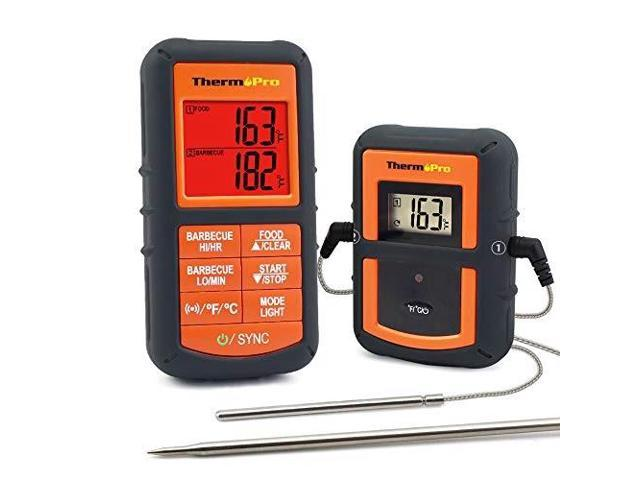 thermopro tp08s wireless remote digital cooking meat thermometer dual probe for grilling smoker bbq food thermometer