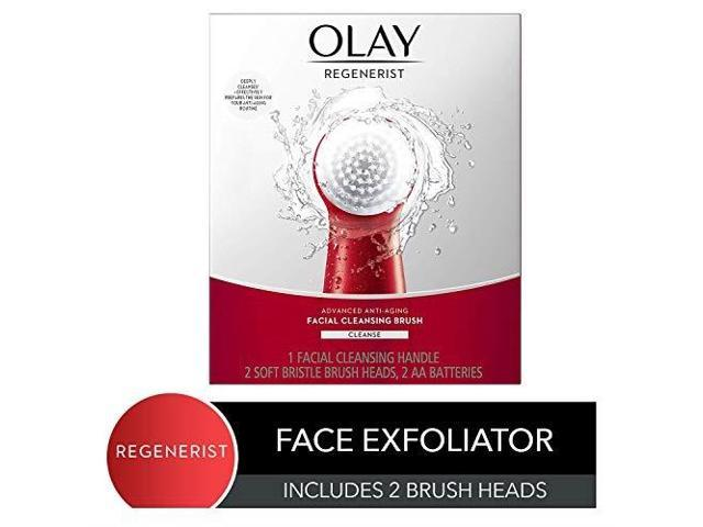 Facial Cleansing Brush By Olay Regenerist Face Exfoliator With 2 Brush Heads Newegg Com