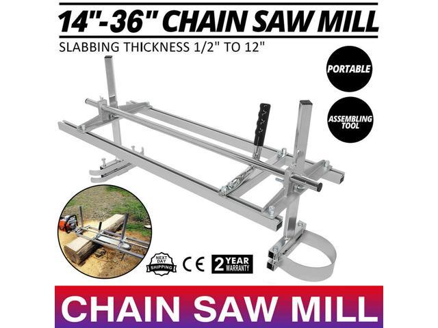 """New Chainsaw Mill 14/""""-36/"""" Portable Chain Saw Mill Aluminum Steel Planking Lumber"""