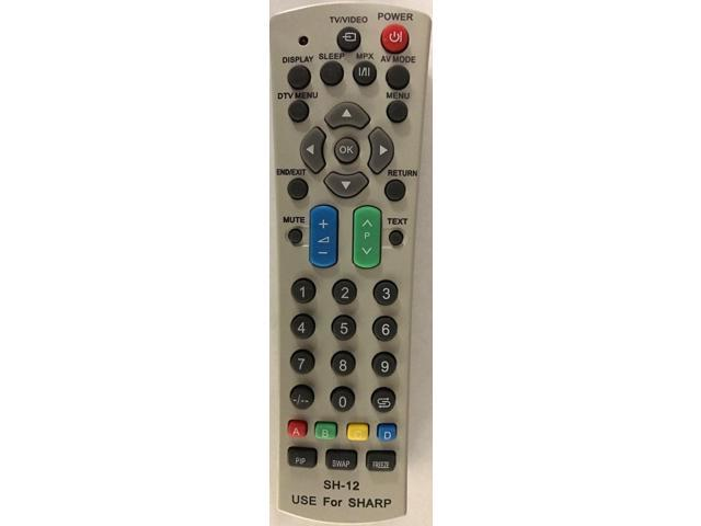 NEW Generic Universal SHARP sharp TV Remote fit for Almost All SHARP BRAND TV