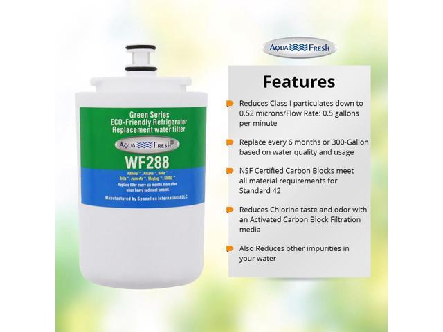 Fits Maytag MZD2766GEW Refrigerators 3 Pack Aqua Fresh Water Filter