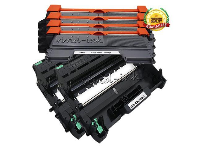 4x TN450+2x DR420 Toner Drum For Brother DCP-7060D 7065DN HL-2130 2132 2220 2230