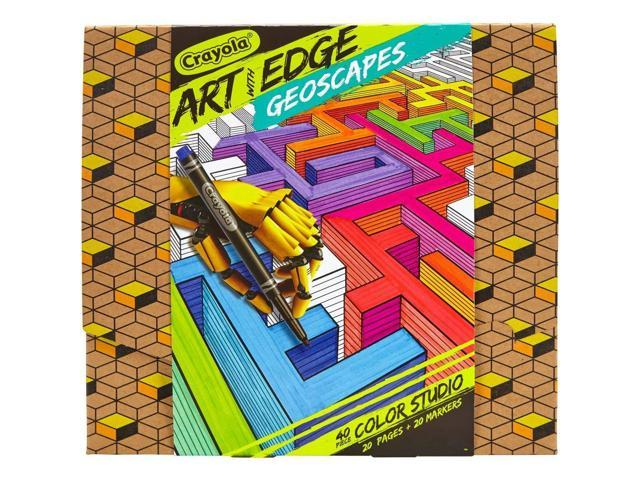 Crayola Art with Edge Studio Kit Geoscapes Coloring Book & Markers Aged -  Newegg.com