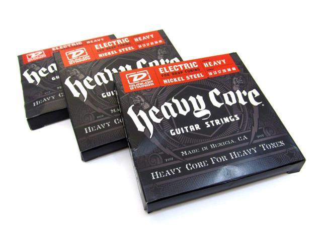 dunlop guitar strings electric 3 sets heavy core heavy 10 48. Black Bedroom Furniture Sets. Home Design Ideas