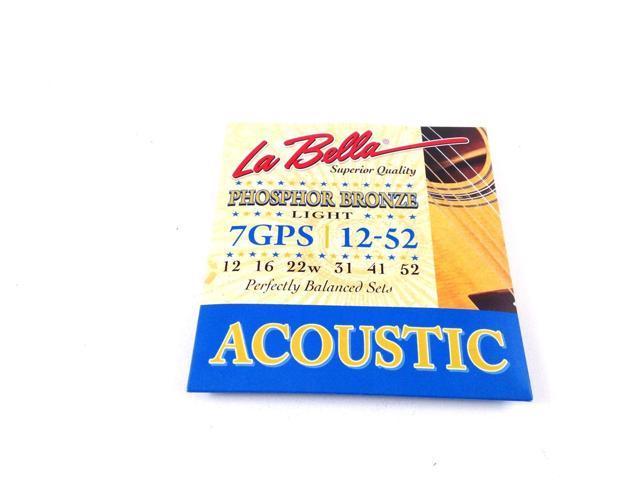 la bella guitar strings acoustic phosphor bronze custom light 12 52. Black Bedroom Furniture Sets. Home Design Ideas