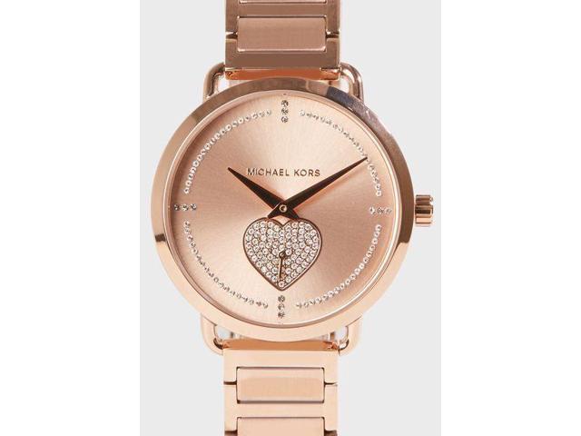 f82b1f3ef735 Michael Kors MK 3827 Portia Pave Rose Gold Tone Ladies Watch ...